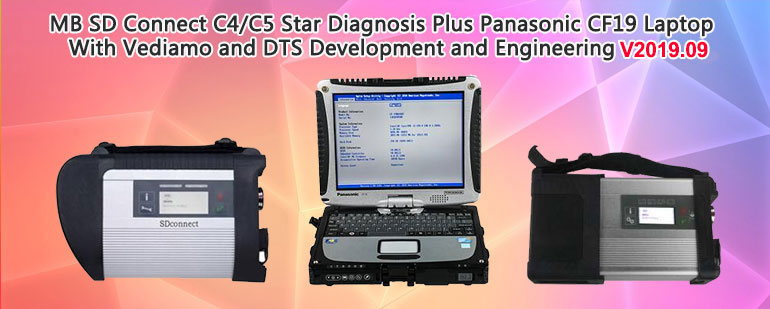 MB SD Connect C4/C5 Star Diagnosis Plus Panasonic CF19 Laptop With Vediamo and DTS Development and Engineering 2019.09