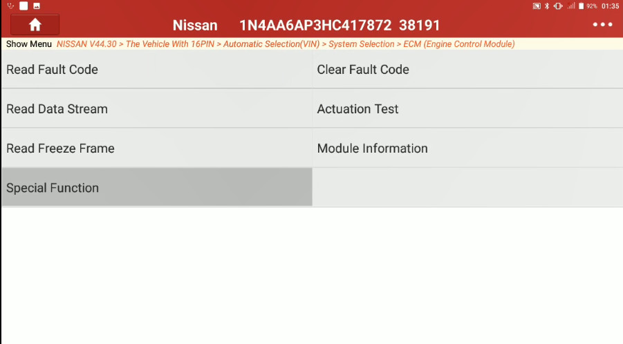 Nissan Maxima 2017 Target Ignition Timing Adjustment 5 Nissan Maxima 2017 Target Ignition Timing Adjustment by Launch X431 Throttle