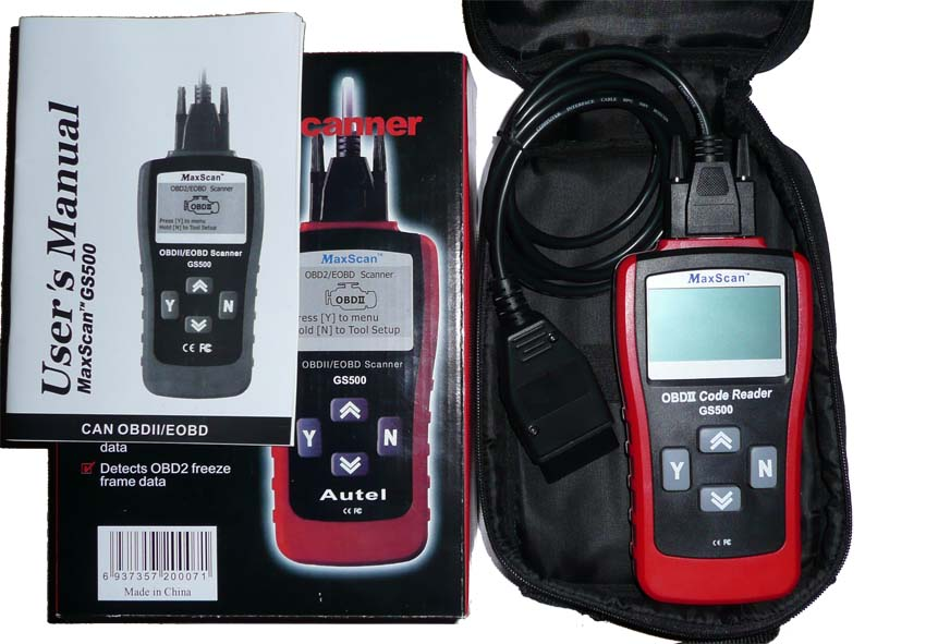 GS500 MaxScan Professional Live CAN OBD-IIEOBD Code Scanner3