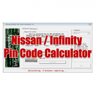 Nissan/Infinity Pin Code Calculator for New BCM Modules Support 20 Digit Code with 1000 Tokens Newest 6.0 Version