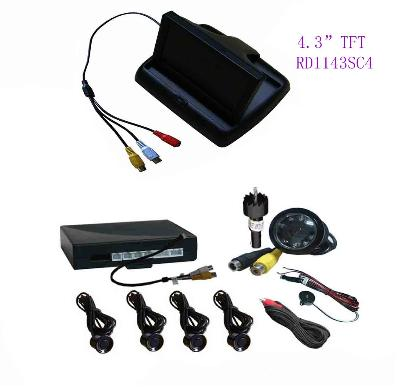 "FLIP -OPEN Video Parking System-Camera and 4.3"" TFT Monitor"