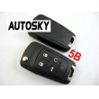 Buick modified remote flip key shell 5 button