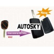 Citroen modified flip remote key shell 2 button VA2