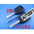 citroen remote key 2 button434MHZ ( with groove)