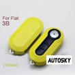 Fiat flip remote key shell 3 button (yellow color)