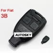 Fiat smart key shell 3 button