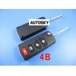 Nissan flip remote key shell 4 button
