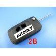 mitsubishi flip remote key shell 2 button