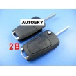 Opel flip remote key shell 2 button