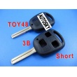 toyota remote key shell 3 button toy48-short