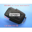 VW 2B Remote 1 JO 959 753 N 433Mhz For Europe South America