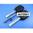Peugeot 4D duplicable key shell with groove