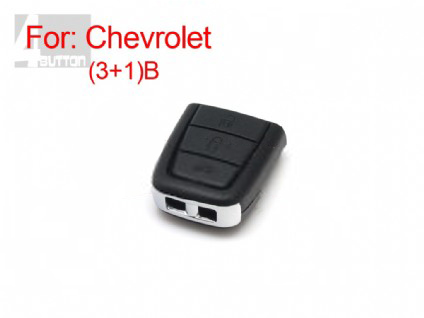 chevrolet remote key shell 3+1 button