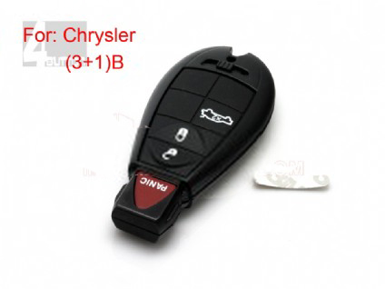 Chrysler smart key shell 3+1 button