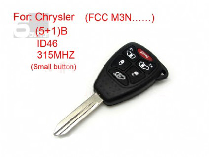 Chrysler remote key 5+1 button ID 46 315MHZ FCC M3N (Small button)