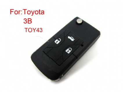 Toyota Camry flip modified remote key shll 3 button(MOQ 5pcs)