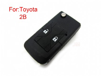 Toyota Corolla flip modified remote key shell 2 button(MOQ 5pcs)