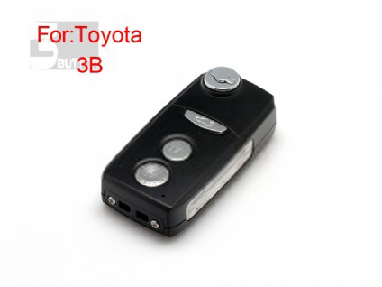 Toyota Camry Highlander modified flip remote key shell 3 button (black color)(MOQ 5pcs)