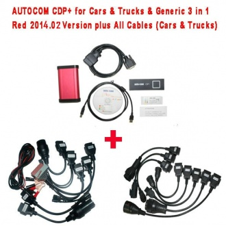 CDP for Cars & Trucks & Generic 3 in 1 Red 2014.02 Version plus All Cables (Cars & Trucks)