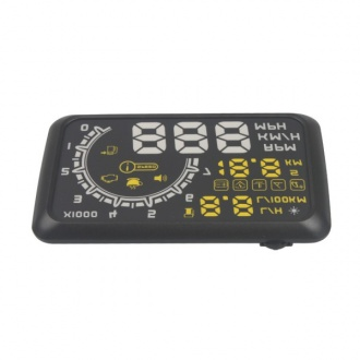 W02 Car HUD Showing OBD Insert Head Up Display KM/h & MPH Speeding Warning OBD2 System