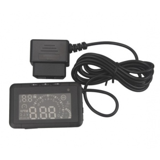 W01 LED Car HUD Head Up Display With OBD2 Interface Plug & Play Speeding Warn System