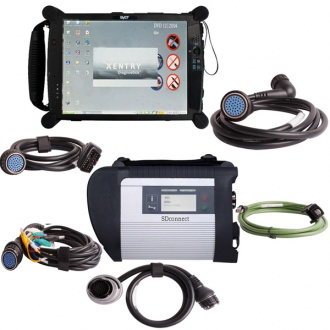MB SD Connect C4 Star Diagnosis Tool With WiFi 2020.12 Plus EVG7 Diagnostic Controller Tablet PC