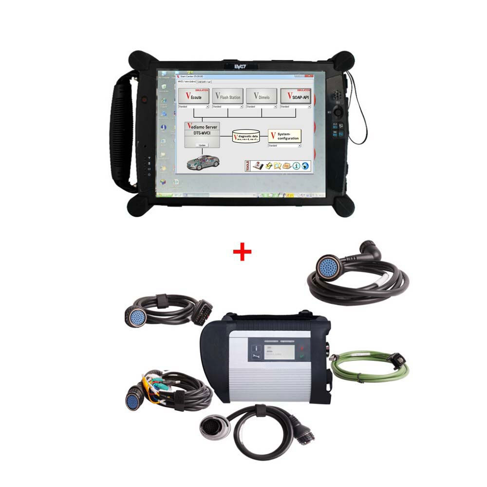 Mb sd c4 star diagnostic tool with vediamo for Mercedes benz computer diagnostic tool