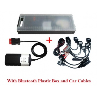 Car&truck OBD2 cdp DS150 professional Diagnostic tools   Verison 2014.02/2015.01 With bluetooth&Plastic Box With Car Cab