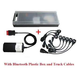 Car&Truck OBD2 cdp DS150 Diagnostic tools Verison 2014.02/2015.01 With bluetooth&Plastic Box and Truck Cables