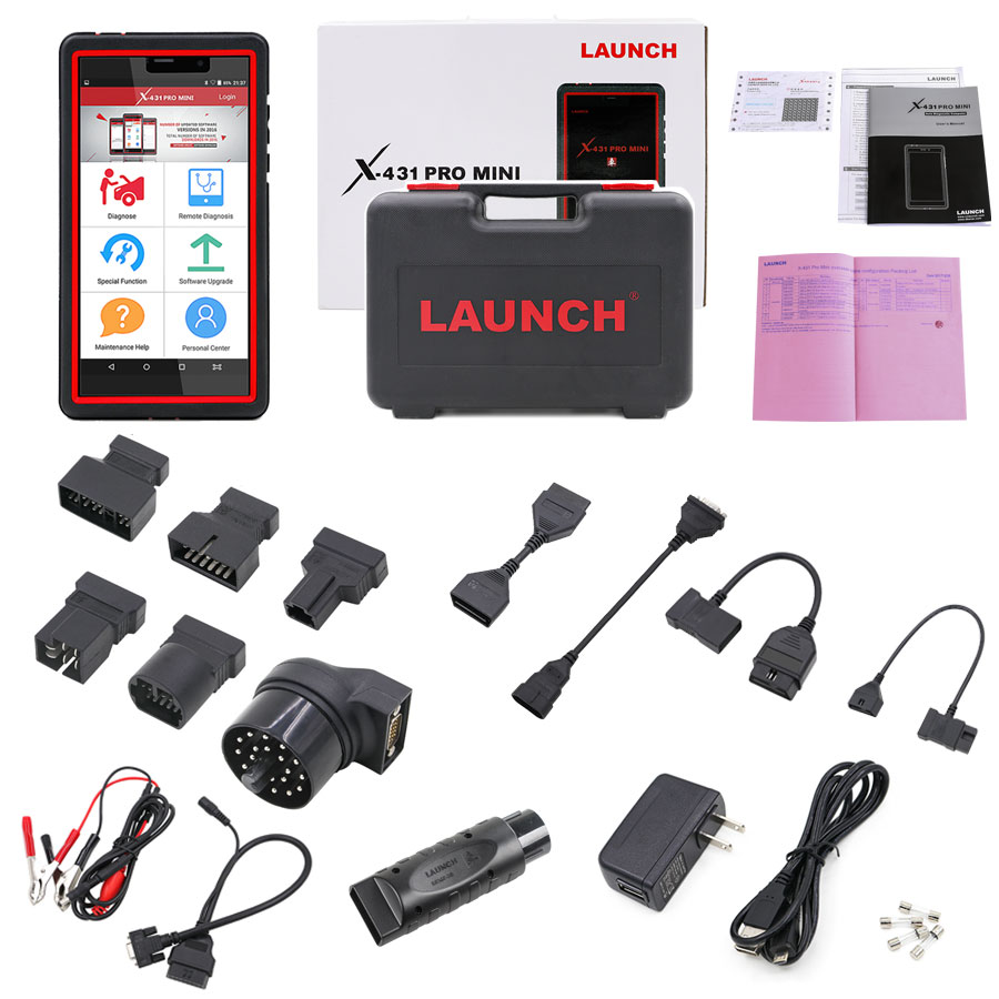 Launch X431 Pro Mini OBD2 Diagnostic Scan Tool with Bluetooth Car Code Reader 2 Years Free Update Online