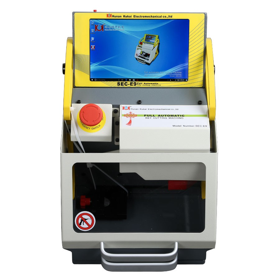 SEC-E9 CNC Automated Key Cutting Machine Multi-Language Upgradable Work on Car, Truck, Motorcycle, House Key