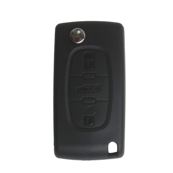 Flip Remote Key 3 Button Made in China For Peugeot 307