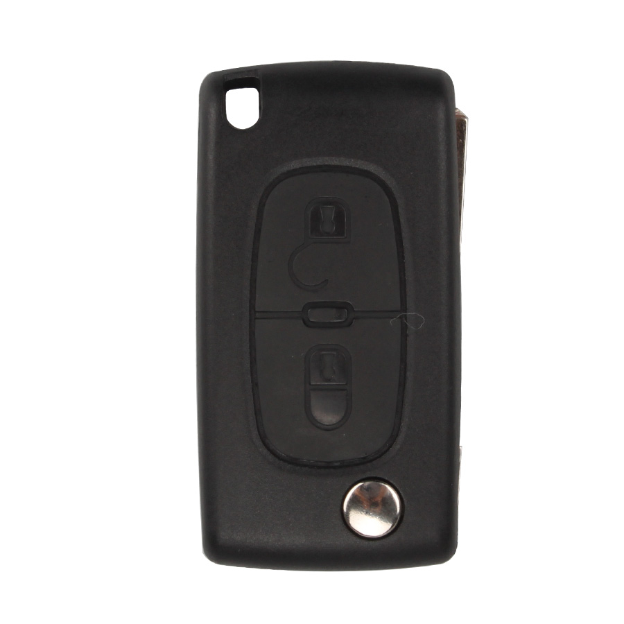 Remote Key Shell 2 Button (Without Battery Location) For Peugeot Flip 10pcs/lot