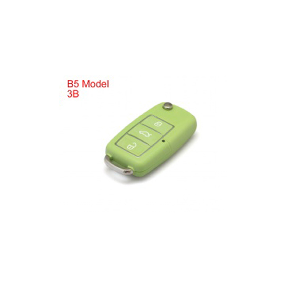 Remote Key Shell 3 Buttons With Waterproof(Green) for Volkswagen B5 Type 5pcs/lot