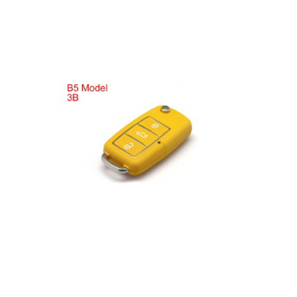 Remote Key Shell 3 Buttons With Waterproof(Lemon Yellow) for Volkswagen B5 Type 5pcs/lot