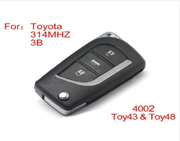 Modified Remote key 3buttons 314MHZ (not including the chip) For Toyota