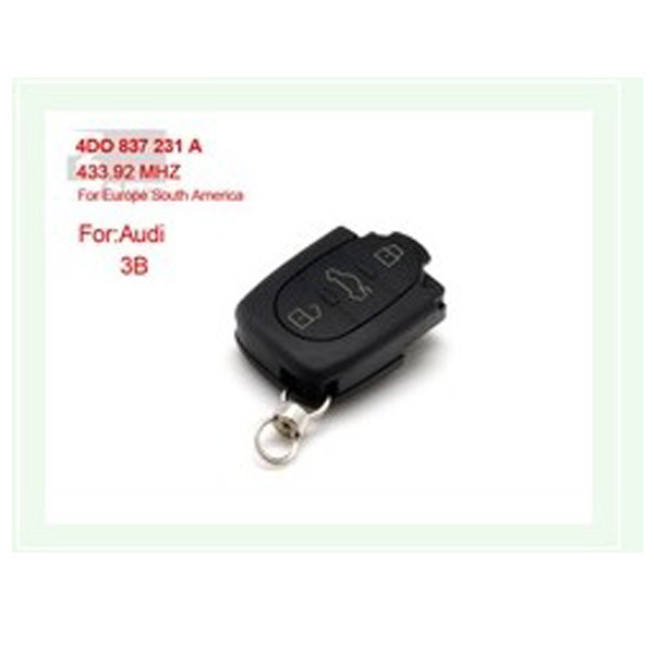 3B 4DO 837 231 A 433.92Mhz For Europe South America for AUDI