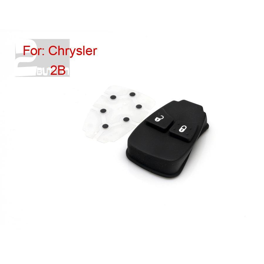 2 Button Rubber for Chrysler 5pcs/lot