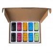 10pcs XHORSE VVDI2 Volkswagen B5 Type Color Special Remote Key 3 Buttons (in Black, Red, Yellow, Blue and Green)