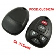 5 Button 315MHZ Remote Key for GM