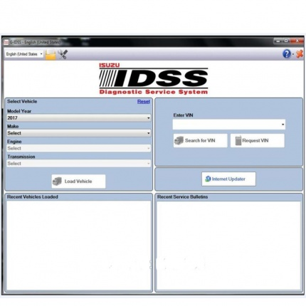Newest 2017 Isuzu G-IDSS  Export Diagnostic software With Keygen