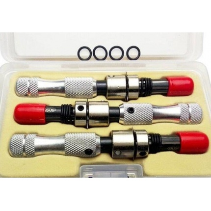 GOSO 3pcs/set Lengthened Advanced 7 Pin Tubular Lock Pick 7.0mm & 7.5mm & 7.8mm LOCKSMITH TOOLS