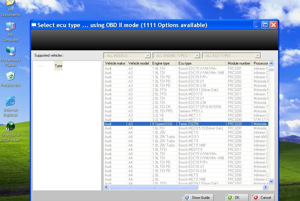 mini dsg reader software 2