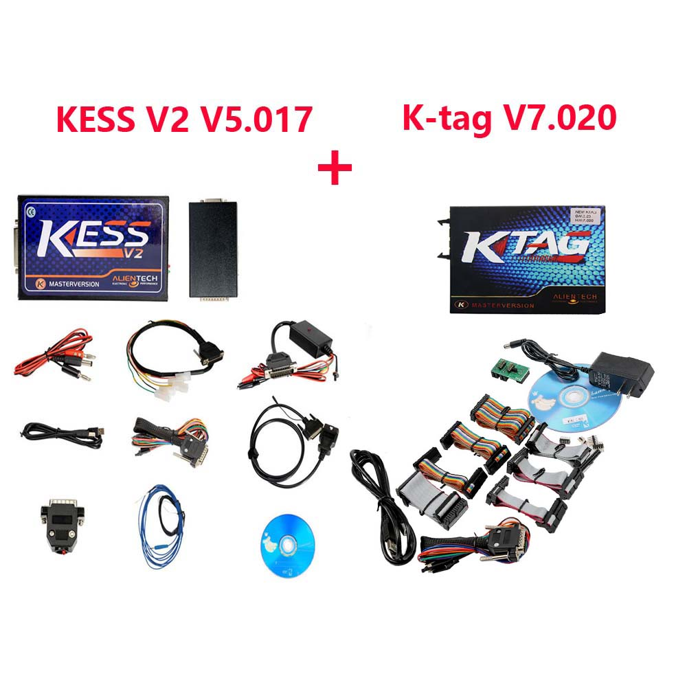 Kess V2 V5.017 Plus Ktag V7.020 ECU Programmer Master Version No Tokens Limited