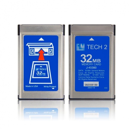 32MB PCMCIA Memory CARD FOR GM TECH2 Seven Software-GM, OPEL, SAAB, ISUZU, SUZUKI, Holden Export, Australia Holden