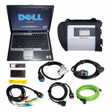 MB SD Connect Compact 4 Star Diagnosis Tool Plus Dell D630 Laptop With Vediamo and DTS Engineering Software 2020.12