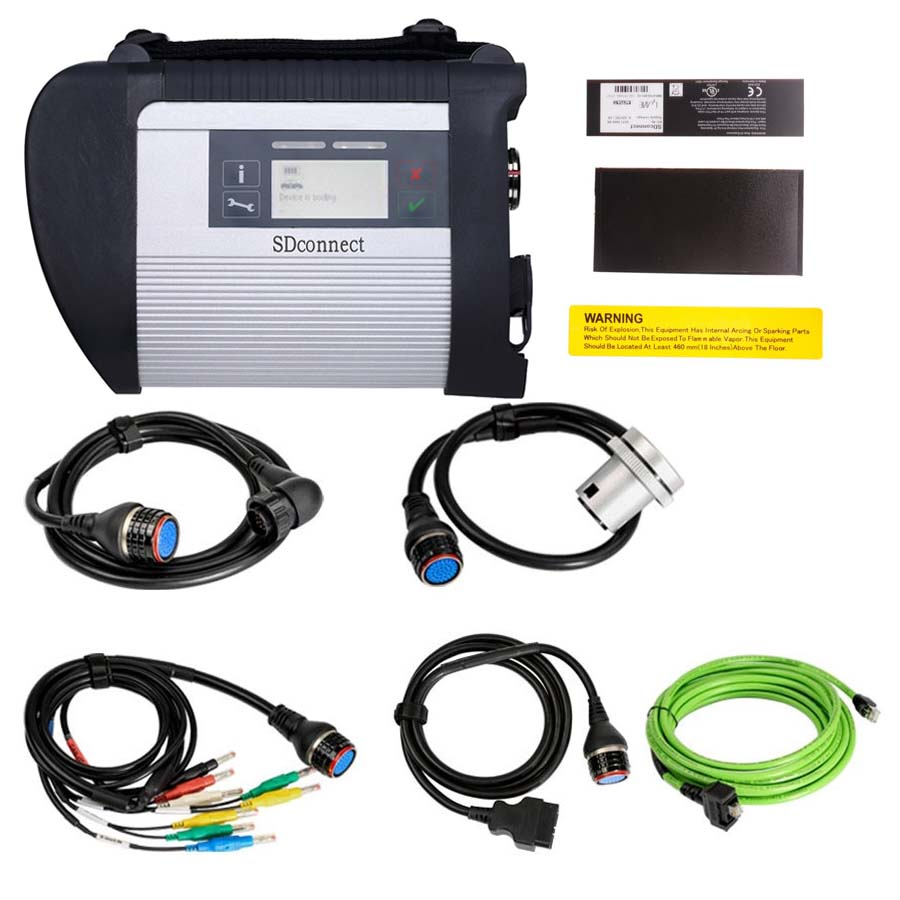 MB SD Connect Compact 4 MB Star C4 Mercedes Benz Diagnostic Tool V2020.06 With Vediamo and DTS for Cars and Trucks
