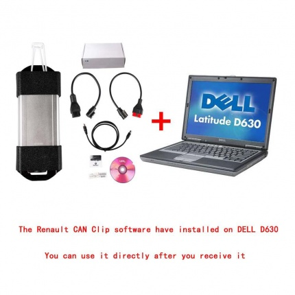 V191 Renault CAN Clip Diagnostic Interface With DELL D630 or Lenovo T410 Laptop Ready To Use High Quality