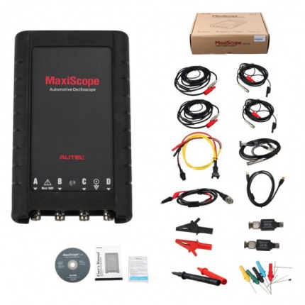 Autel MaxiScope MP408 4 Channel Automotive Oscilloscope Basic Kit Works with Maxisys MS905 MS906BT MS906TS MS908 MS908P