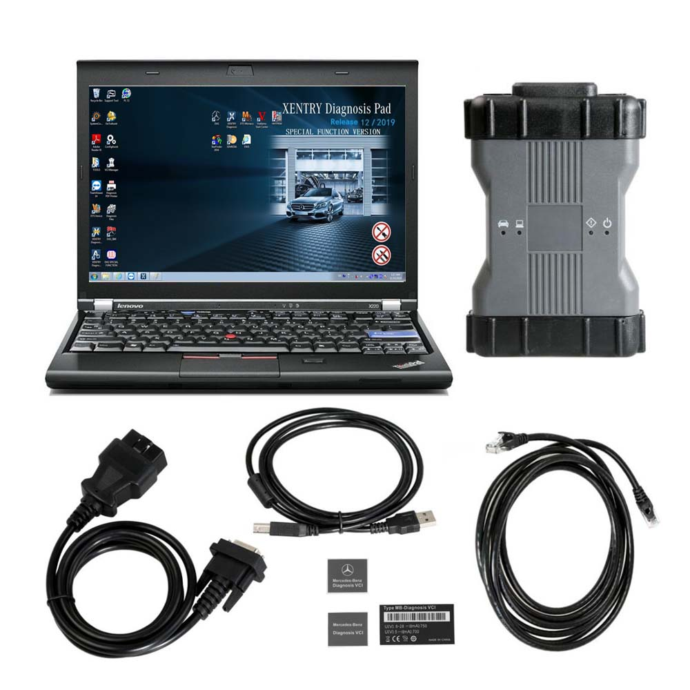 V2020.06 MB STAR C6 Benz Xentry Diagnosis VCI DOIP & AUDIO Mercedes BENZ C6 Diagnosis Tool PLUS lenovo X220 Laptop